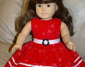 Doll corduroy dress with belt for 18 inch doll