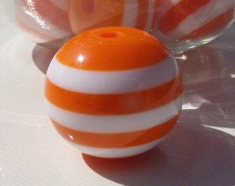 20mm, 10CT Orange and White Stripe, F14