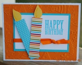 Handcrafted Birthday Candle Birthday Card