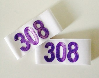 Numbered Elastic Arm Bands for Roller Derby - Custom colours and size