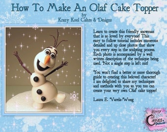 How To Make An Olaf Cake Topper PDF Tutorial