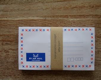 25 pcs. Thai Vintage Style Airmail Envelopes ,Par Avion Envelopes - size small