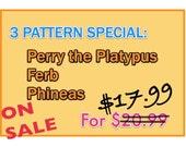 """On Sale! Amigurumi Crochet PATTERN- 3 Pattern Special """"PDF file"""""""