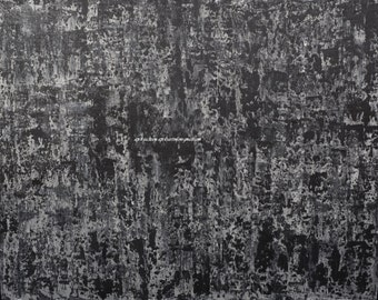 First Lines Black White Gray Textured Abstract Expressionist Painting 40x60 3.5x5