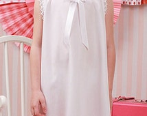White Cotton Slip with Lace Accent