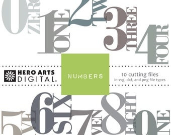 Instant download Hero Arts Numbers DT101 Digital Cutting Files Kit