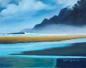 "Manzanita Morning 11"" x 14"" Giclee on Canvas/ Fine Art Print/ Surf Art"