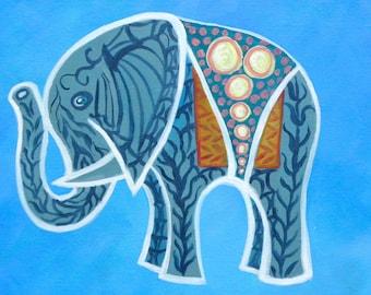 """Nursery Wall Art/ 16"""" x 24"""" Baby Thai Elephant I/ Fine Art Print/ Giclee on Canvas"""