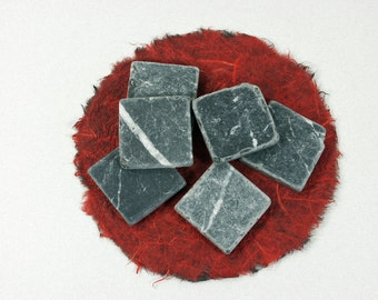Tumbled Charcoal Marble Squares