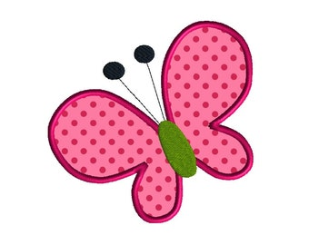 Butterfly Applique Machine Embroidery Design-INSTANT DOWNLOAD