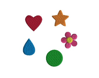 Mini Shape Machine Embroidery Designs-INSTANT DOWNLOAD