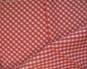 feedsack material 38 by 43 inches red and white check quilting fabric country rustic farmhouse