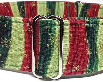 Christmas Themed Martingale Collar