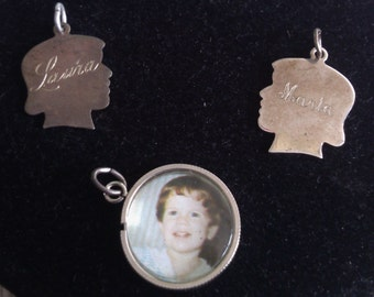 REDUCED  Sterling Remember Charms Sold Separately or Together, Can be Re-Engraved