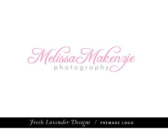 Premade Logo and Watermark for Photographers and Small Crafty Businesses Swirly Feminine Script