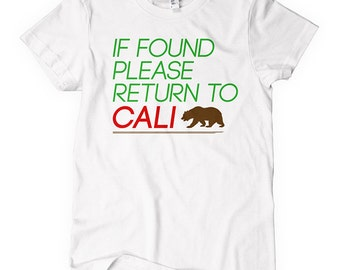 Women's Return to California Tee - S M L XL 2x - Cali T-shirt - 2 Colors
