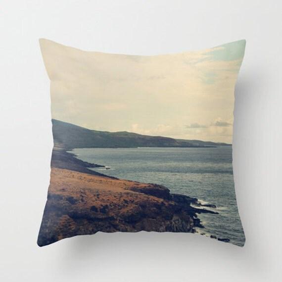 Neutral sofa pillow brown blue accent pillow travel - Brown sofa with blue pillows ...