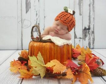 Pumpkin Patch Prop Set CROCHET PATTERN instant download - hat and legwarmers newborn photography