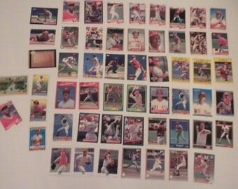 Cincinnati Reds Baseball  Trading Cards Vintage Lot of 55 Cards