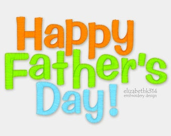 Instant Download - Happy father s day 029 - machine embroidery design