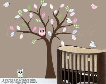 Girls tree wall decal - 0135