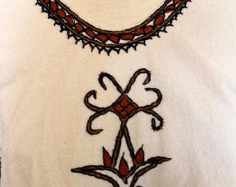 SALE 1960s BATIK boho hippie DRESS tunic one size os rare yoga wear