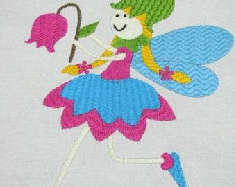 Garden Fairies 02 Machine Embroidery Design - 4x4, 5x7 & 6x8