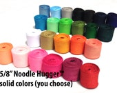 NOODLE HUGGER Non slip ribbon headband - Solid color (you choose) - 5/8 inch (running, working out, everyday: women and girls)