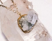 Light Blue-Pale Blue- Chlorite-Raw Mineral Necklace