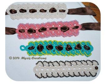 PDF Crocheted Bracelet Tutorial, How to make a beaded petal crochet cuff, Beaded Petal Crochet Bracelet Pattern, Beaded Cuff Tutorial