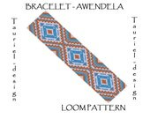 Loom pattern - native american inspired bracelet pattern - Awendela