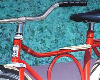 "Bike Art - Original Acrylic Painting (30"" x 12"") - ""Sophia"" - BikeLoversAlley, by Mattie O."