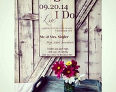 Painted barn wood sign. Personalized. Wedding gift. Anniversary. Housewarming.