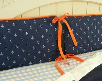 Baby Bedding Crib Quilt and Crib skirt  Nautical Boys Toddler or Bbay Blanket Set