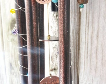 Extra Family Name Discs for Wind Chime, NOT SOLD INDIVIDUALLY, Add on to Hand Stamped Wind Chime Order
