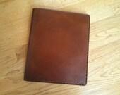 European Sized (A-4) Portfolio Notebook Genuine Leather Handmade - Brown