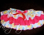 Adorable Parley Ray Pink Rubber Ducky Ruffled Baby Bloomers/ Diaper Cover / Photo Props