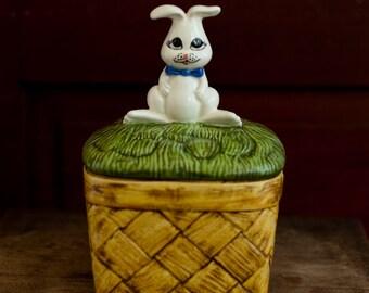 Vintage Spring Easter Cookie and Treat Jar