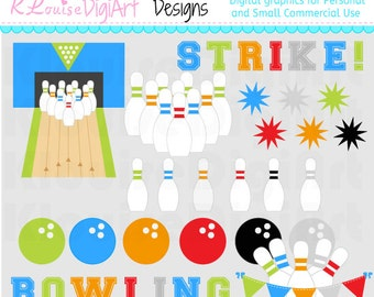 Bowling Clipart 2 Personal and Small Commercial Use