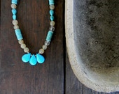 "Cyber Monday 20% Off Enter ""CYBERMONDAY"" in Coupon Code Blue Turquoise Necklace Wedding Sundance style jewelry"
