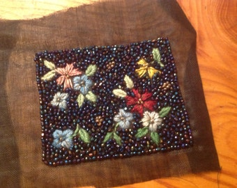 Vintage French Micro Beadwork c 1930's Pre-WWII