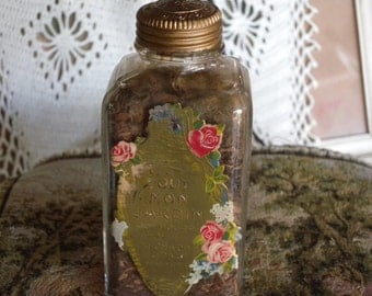 Antique Richard Hudnut Tout Mon Jardin  Full Potpourri Bottle