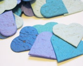 Plantable Seed Paper Confetti Hearts  - Out of the Blue Blend - Eco Friendly,  Wedding Favors, Bridal Showers, Cards & Crafts