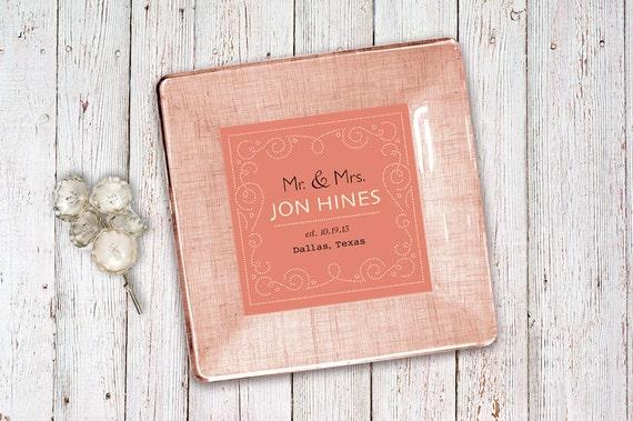 Invitation keepsake - wedding invitation plate - unique wedding gift ...