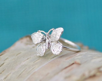 Butterfly Ring - Sterling Butterfly - Silver Butterfly - Sterling Ring - Butterfly Jewelry - Butterflies