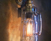 Beer mug Wall Light. Lamp. Sconce with vintage style Edison bulb.