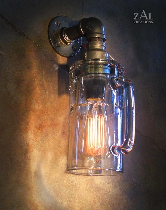 Wandleuchte wandleuchte bierkrug lampe mit vintage stil - Wandlampe vintage retro ...