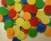 Fondant Polka Dots Cupcake Toppers