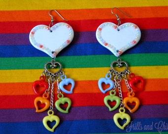 Rainbow L-O-V-E Earrings