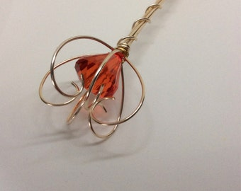 Queen of hearts scepter, red queen scepter, Fairy Wand,  Princess Scepter, Red Jewel Scepter, Gold and red princess wand,